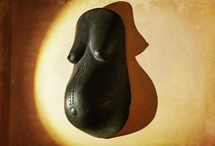 Makonde body mask: Life-giver. (jooleyg) Tags: makonde maternal goddess birth female curves blood sun handcarved wood ebony tribe mozambique initiation grunge texture pregnancy fertility dogwoodweek39 artisan handmade artistic