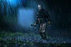 Rise from your grave. (Agent | Butterman) Tags: outside rain toy toys jason fridaythe13th canon 70200mm canon6d horror outdoor storm 80s movies scarymovies neca toyphotograph toyphotography