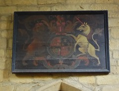 Royal Arms of George I, Branston (Aidan McRae Thomson) Tags: branston church leicestershire royalarms painting heraldic