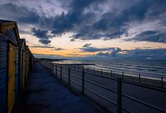 Minnis Clouds3 (Phil on Fire) Tags: beach beachhuts kent kentcoast coast coastal sunset clouds sea seascape thanet