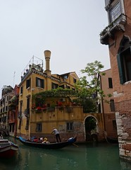 Whimsy in Yellow (H.Fenske) Tags: italy venice canal gondola explore unknown adventure europe summer color travel outdoors city water