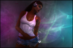 Sweet Mary (M ) Tags: second life art music smoke realevil blueberry maitreya