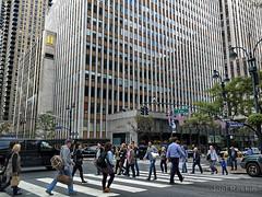 In the Crosswalk (Joel Raskin) Tags: people citylife city street buildings thruthewindow fromthecar thrutintedglass nyc manhattan 42ndstreet 2ndavenue wpix streetcorner lumixgx8 gx8 crosswalk
