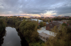 Photo of looking north west over Radcliffe from the Outwood viaduct