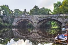 Nidd (diminji (Chris)) Tags: rivernidd bridge bridges yorkshire loveyorkshire knaresborough hdr hdrtoning nidd boat boats reflections