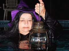 Lantern; under and out (clarkfred33) Tags: railroadlantern pennsylvanialines collectorlantern vintage vintagelantern lamp wetadventure wetlook halloween witch wetwitch costume wetcostume pool water wade lantern