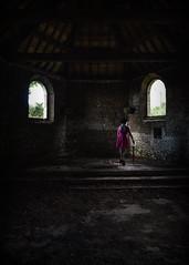 L'autel.. (Harleynik Rides Again.) Tags: ruin abandoned lowlight lautel woman backshot urbex urban shadows harleynikridesagain disturbia