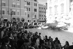 Packed at Trevi Fountain (Mrs Bs Photos) Tags: crowded mono trevifountain rome