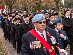 20161111_0048_1 (Bruce McPherson) Tags: brucemcphersonphotography remembranceday southmemorialpark southmemorialparkcenotaph cenotaph vancouverpolice vpd cadets marchpast march marching autumn fall fallleaves memorial vancouver bc canada