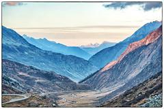 San Gottardo  (Pass-Strassenhöhe ca. 2100 m . ü. M) (Anselm11) Tags: gotthardpass landscape landschaft berge mountains sunset