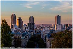 Sur les toits de Paris... (Stéphanie Deniaux - Photos) Tags: immeubles tour tower ville city light lumiere soleil sun sunset coucherdesoleil paris france parcdesbutteschaumont belvedere canon canonfrance canones100d