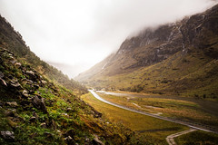 Open Road (Paul Aparicio) Tags: norway travel roadtrip canon nature fog goldenhour light color fall autumn camping hiking outdoor rei