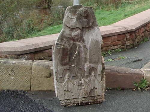 2013 # 88, Carved Owl, Bangor-is-y-coed, Wrexham.