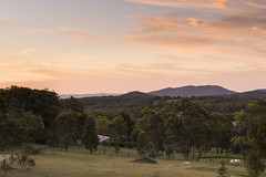 The Farm (Eduardo_il_Magnifico) Tags: sky sunset mountains farm horse armidale invergowrie mountduval newengland newsouthwales nsw australia trees outdoors nikond750 tamron90mmmacrovcusm nisi 3stophardgrad tripod