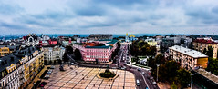 Toytown in Kiev , Ukraine (Chacky) Tags: its shot from bell tower kiev ukraine kyiv postcard topdown view above landscape horizontal color colorful canon canon600d camera contrast europe travel traveling tripod traveler panoramic photography perspective poshtova ploshcha lypky