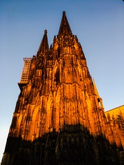 Not that there is a lack of photos of Cologne cathedral. But this is the time of the year when it really shines and glows in the evening! (wwwuppertal) Tags: colognecathedral klnerdom leuchten shining glow abendsonne eveningsun kln cologne rheinland nrw nordrheinwestfalen northrhinewestphalia sakralbau romancatholic rmischkatholisch katholizismus christentum christenheit god architektur architecture gotik gothic
