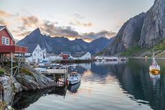 Lofoten - Hamnøya (Kejerith) Tags: lofoten hamnøya norway norge kejerith kenny sunset clouds bay fishing boats rorbua