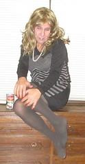 Tonya File 10/24/16 (Tonya Turner) Tags: sweaterdress tonyaturner tranny missouricd missouritg greytights