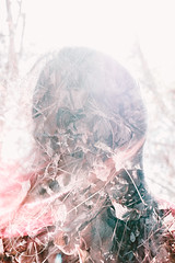 Fading Away (ResistForever95) Tags: doubleexposure hair faceless rf95 rufusphotography forest leaves