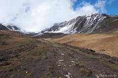 Towards Base Camp (Vinchel) Tags: china sichuan siguniang trek outdoor mountain hiking fuji xt2 1655mm f28 landscape mountainside hill travel