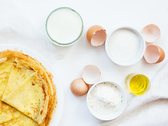 Thin homemade pancake on plate (Olga_Z1982) Tags: dessert breakfast food sweet homemade pancake thin meal rolled gourmet french eating plate white drink culture morning up cake sugar table snack group color background holiday decorating rustic milk egg oil russian ingredients