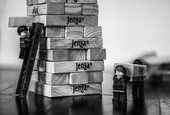 No Magic Allowed (adityauppoor) Tags: lego macro blackandwhite harrypotter hermoine ron indoor monochrome jenga
