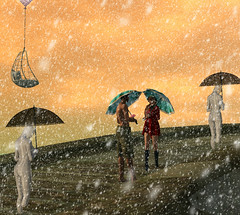 Retrospect Dec 4 2016 S&B_019R (SL trip of Babe & Syril) Tags: retrospect art umbrella snow secondlife couple