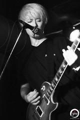 Masaya. (7716galaxy) Tags: xmadealcoholicsantaclaus xmas jrock loud rock japanese music musician blackandwhite live concert realive brussels belgium charlie masaya kei yuta monochrome lights guitar guitarist drummer drums vocal bass bassist espcealaventure tour europe eutour