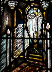How Caple, Herefordshire (Sheepdog Rex) Tags: stainedglass crucifixion churchofstandrewandstmary howcaple