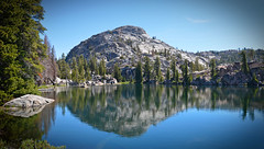 blue-lake (E.R.M .when I get real big : )) Tags: mountain lake water reflection sierra yosemite outdoor landscape serene backcountry wilderness california sierranevada backpacking camping trekking tramping trees pines nationalparks