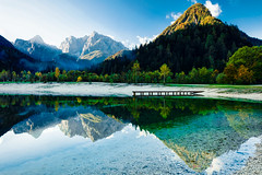 Reflection on Lake Jasna 3 (YGBae) Tags: kranjskagora lake lakejasna landscape mountain razor reflection slovenia