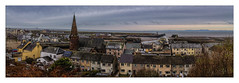 Maryport (Kevin, from Manchester) Tags: canon1855mm cumbria kevinwalker maryport panorama panoramic sea sky church town clouds