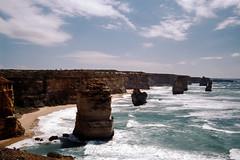 Twelve Apostles (Stefan Fisher) Tags: 35mm australia minoltaxd7 kodakektachrome oz scanned downunder outdoor coastline twelveapostles nationalpark victoria portcampbellnationalpark greatoceanroad