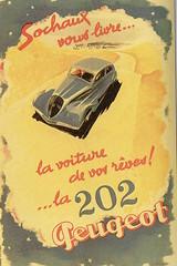 Peugeot 202 (1938) (andreboeni) Tags: classic car automobile cars automobiles voitures autos automobili classique voiture retro auto oldtimer klassik classico classica publicity advert advertissement peugeot 202