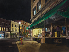 Nocturne, Rutland Vermont (jonathankeeton) Tags: nocturne watercolornocturne watercolor landscapewatercolor rutland vermont nightscape