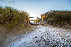 White Rocks beach (RomaPierzga) Tags: whiterocks portrush northernireland beach landscape sand winter snowonsand frostyday nature blueflagbeach