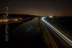 Day 333: Haddiscoe at Night. (Howie1967) Tags: rail night train river dark norfolk suffolk raolway railroad east anglia abellio greater transport long exposure 153 scud stars
