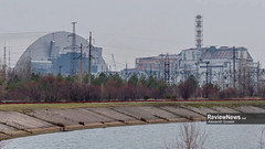GOV42834 (avgusew) Tags: chernobyl disaster plant nuclear object power arch shelter reactor sarcophagus energy landscape view building construction air photo over station safe explosion aerial infrastructure fourth ukrainian atomic catastrophe tragedy pant confinement anniversary april ukraine kiev 2016 radiation radioactive