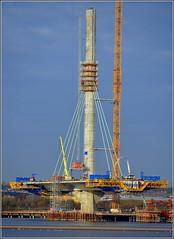 Mersey Gateway Project (Northern  Pylon) 1st December 2016 (Cassini2008) Tags: merseygatewayproject rubricaengineeringformtravellers cablestayedroadbridge bridgeconstruction rivermersey widnes construction cofferdam