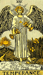 Temperance (The Lone Wadi Archives) Tags: tarotcard fortunetelling blackmagic occult mystical temperance retro 1910s magical sorcery