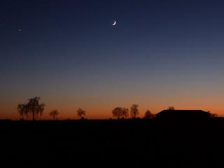 P1040200 Venus und Mond über Steinwedel