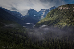 Morning arrived at West Glacier (ScorpioOnSUP) Tags: clementsmountain glaciernationalpark glacierwall montana mtoberlin westglacier adventure clouds landscape landscapephotography lush mist mountainrange mountains nature outdoors peaks sky valley