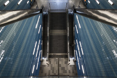 Stairways (MoWePhoto.de) Tags: rolltreppe hamburg berseequartier ubahn bahnhof station blau shiny streetphotography architecture