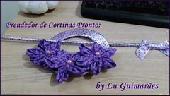 20150813_175414 (Artesanato com amor by Lu Guimaraes) Tags: de flor fuxico cortinas reciclagem tecido prendedor
