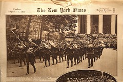 """The New York Times Picture Section"", 8-11-1918 (Madison Historical Society) Tags: old people bw usa history museum photo newspaper interesting nikon flickr shot image connecticut interior military text country wwi shoreline picture newengland ct places indoor scene worldwari madison historical inside academy greatwar scenes firstworldwar mhs conn d600 nikond600 leeacademy madisonhistoricalsociety connecticutscenes madisonhistory bobgundersen"