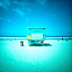 ave 26. venice beach, ca. 2015. (eyetwist) Tags: ocean california blue venice summer orange seascape tower 120 6x6 film beach analog mediumformat square la stand losangeles los lomo lca xpro lomography crossprocessed sand waves cross pacific angeles kodak crossprocess cyan lifeguard ishootfilm hut pacificocean socal surfboard surfers venicebeach analogue mamiya6 process ektachrome processed vignette xl e200 baywatch westla emulsion 38mm lomographic angeleno oceanfrontwalk eyetwist kodakektachromee200 26thavenue ishootkodak ave26 epsonv750pro filmexif filmtagger eyetwistkevinballuff minigon iconla lomolca120 minigonxl38mmf45
