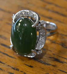"JADE, GOLD, & DIAMONDS RING • <a style=""font-size:0.8em;"" href=""http://www.flickr.com/photos/51721355@N02/21684691840/"" target=""_blank"">View on Flickr</a>"