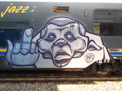 dad/ marea <3 (en-ri) Tags: monster train writing torino graffiti fuck dna basil viola medio mostro dito argento mostriciattolo