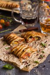 IMG_5829_exp (Helena / Rico sin Azcar) Tags: cheese tomato ham basil puffpastry tomate oregano mozzarella organo jamn hojaldre albahaca