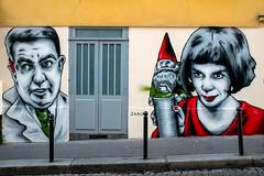 Zabou (dprezat) Tags: street urban paris art film painting movie stencil nikon tag graf montmartre spray peinture aerosol bombe d800 pochoir amliepoulain collignon zabou nikond800